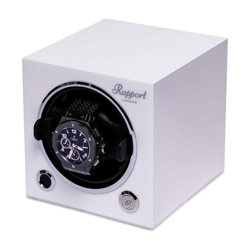 Rapport Evolution Cube Watch Winder Polar White