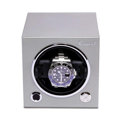Rapport Evolution Cube Watch Winder Platinum Silver