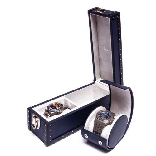 Rapport Kensington Navy Two Watch Box Navy