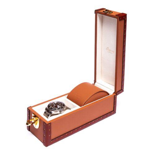 Rapport Kensington Tan Two Watch Box Tan