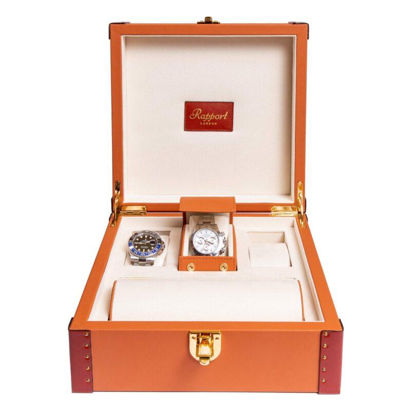 Rapport Kensington Tan Six Watch Box Tan