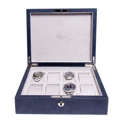 Rapport Vintage Leather Navy Blue Watch Box Navy