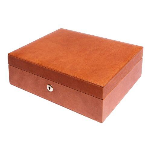 Rapport Vintage Leather Tan Watch Box Tan