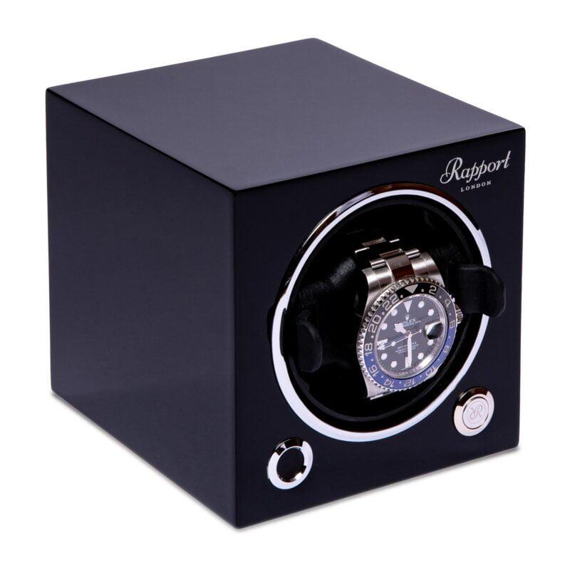 Rapport EVO40 Evolution Cube Watch Winder Black
